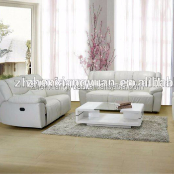 2018 Living Room Sofa Furnitures Reclining White Color Leather Sets 2018living