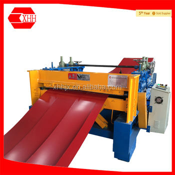 Metal Sheet Steel Coil Slitting Machine With Straightening and Cutting Device