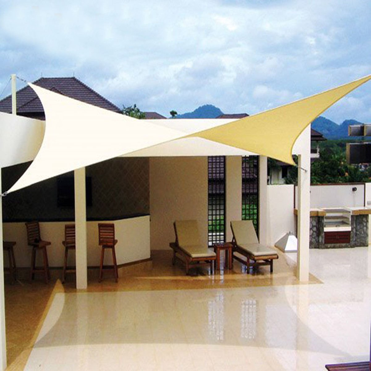 Get Quotations 9 8 X13 Rectangle Sun Shade Sail Uv Top Cover Outdoor Canopy Patio
