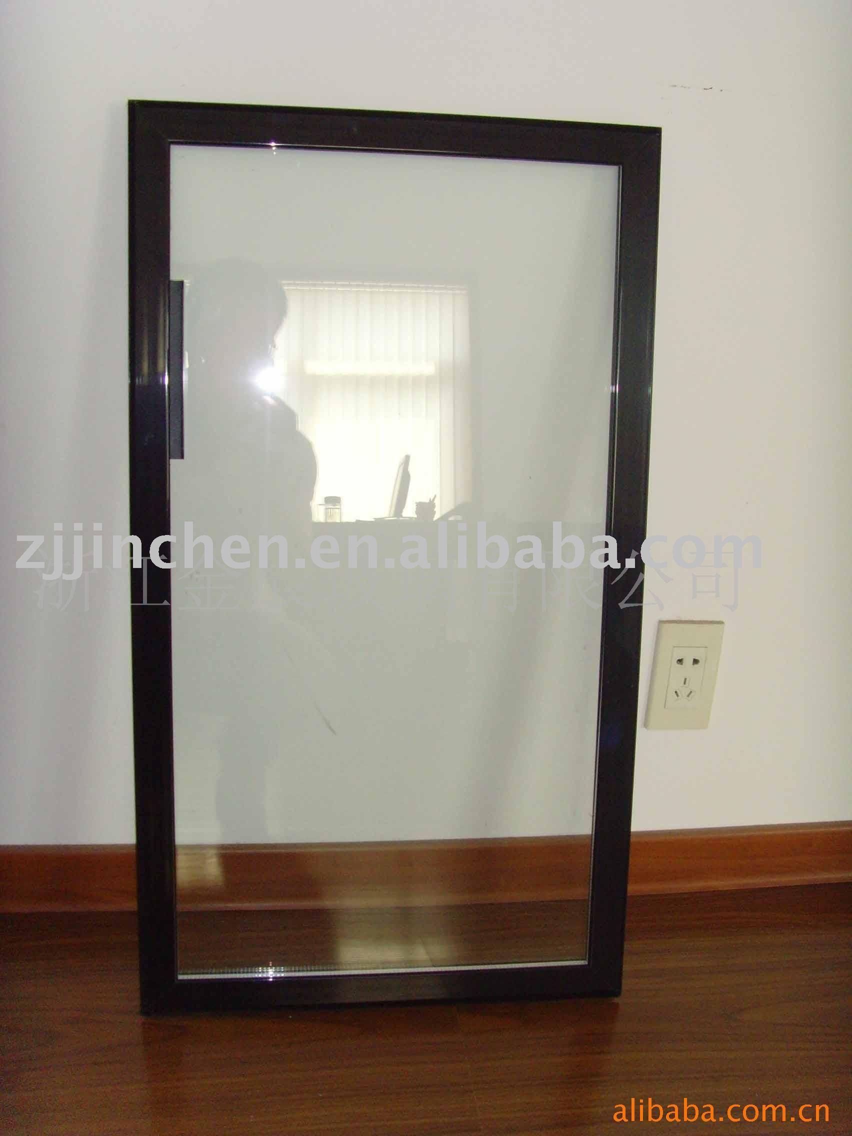 vidrio de aluminio puerta de lado a lado de nevera