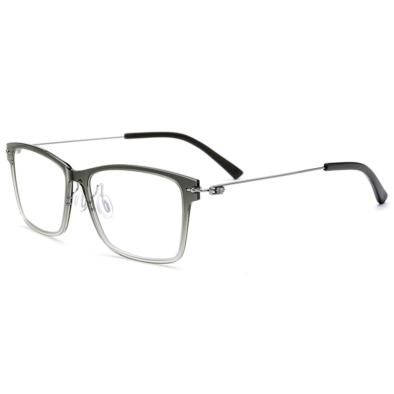 dd795b64db Get Quotations · FONEX Nylon Titanium Alloy Men Square Myopia Optical  glasses Frames 7101