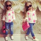 Wholesale Baby New Years Outfit Children Boutique Star Shirt Jean Pants Clothing Korean Kids Clothes