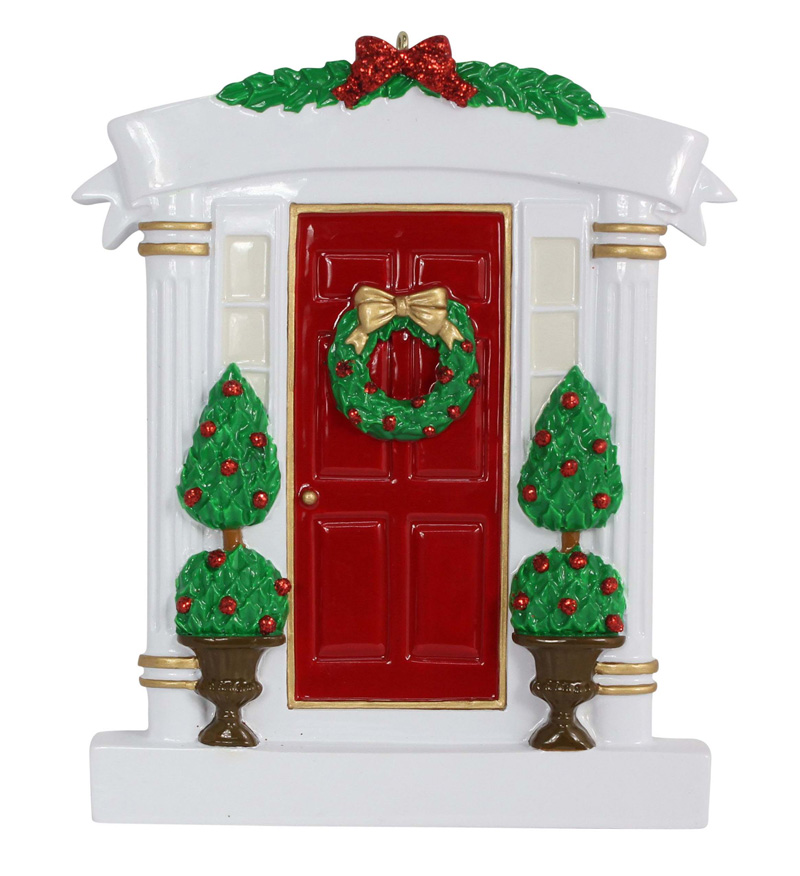 Wholesale Resin Red Home Door Christmas Ornaments With