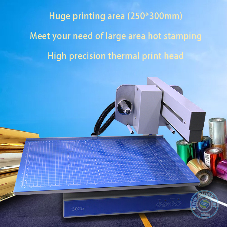 Cosmetics box book cover label foil used portable automatic digital hot stamping machine for leather