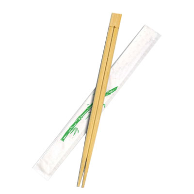 Disposable bulk bamboo custom printed individually paper wrapped chopsticks