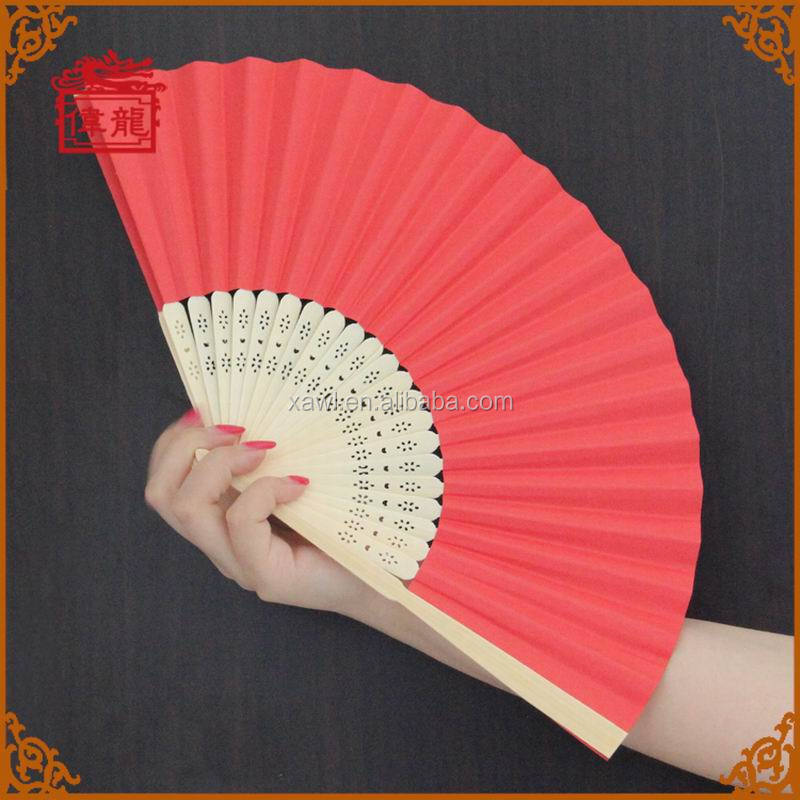 hot selling pictures chinese hand fans customized promotional paper wedding hand fan GYS914-5