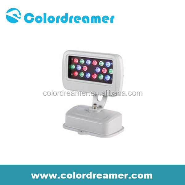 Colordreamer madrix rgb led flood light DC15V-DC24V flood lgiht for building outdoor