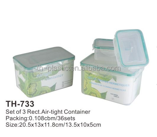 Plastic Air-tight lock easily food containers stoarge boxes