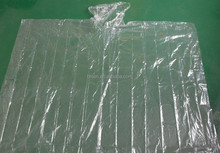 PE Disposable High Quality Clear Rain Poncho Without logo