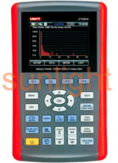 Single Phase Power Quality Analyzer, True RMS, Harmonic Analysis, USB, UT283A
