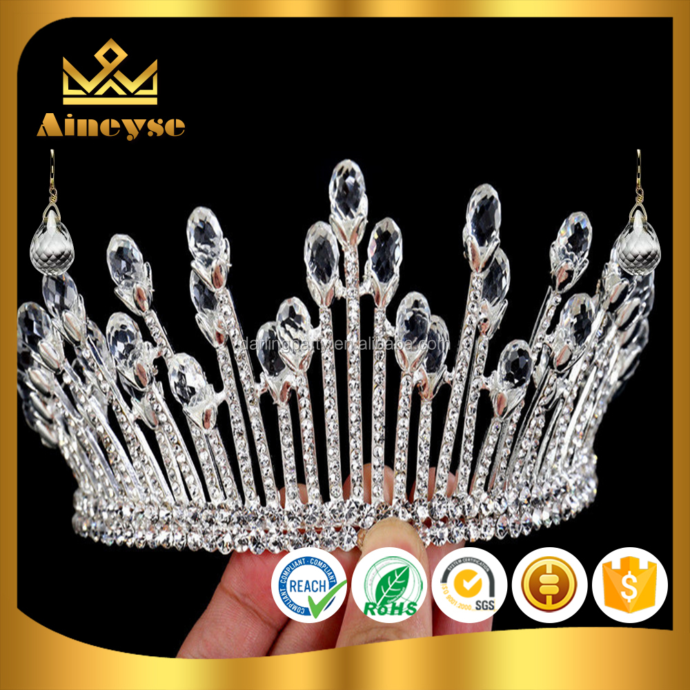 bridal pageant prom tiara <strong>crown</strong> with rhinestone