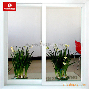 Hurricane impact resistant PVC sliding doors double glass with high quality hardware