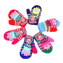 Barevné palcové rukavice pro děti