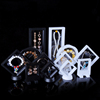 square shape crystal jewelry box display floating jewelry