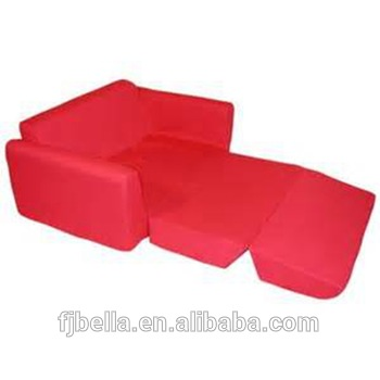 Kids Flip Out Foam Sofa Bed Red