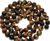 Yellow tiger eye stone round beads