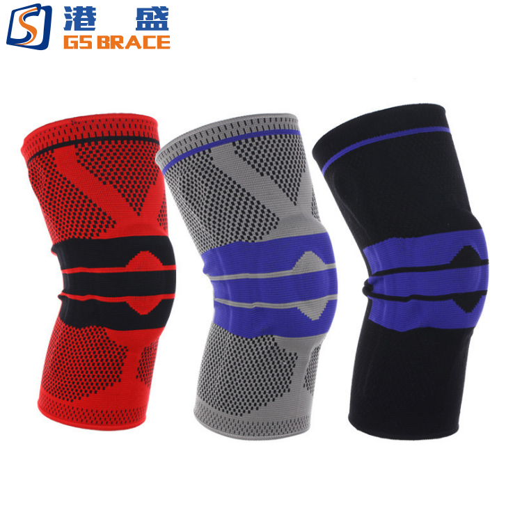 Knee Support Brace Compression Sleeves, Elastic & Adjustable Kneepad Silicon Padded Bracket /Patella Stabilizer /Warm Protector, Customized color