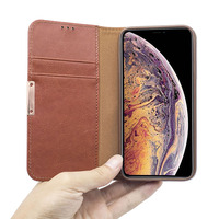 Leather Wallet Phone Case with Card Holder Kickstand Protective Folio Flip Cover for Iphone x xs