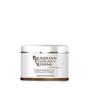 KERATIN CURE - Deep Hair Reparation Masque 250g /8.81 oz BTX Pina Colada with Argan Oil - Shea Butter 250 g / 8 Oz Conditioning Moisturizing Hair Treatment