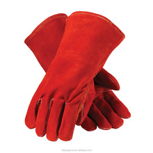 Red Split / Grain Leather Welding Gloves