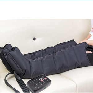 Portable rechargeable blood circulation leg massager pneumatic compression device