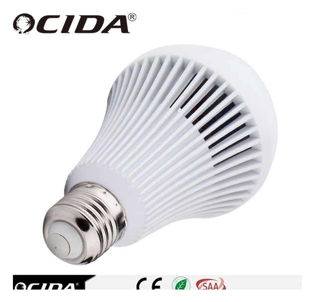 PC material Rechargeable intelligent led emergency bulb
