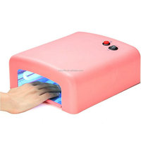 36W UV Lamp Gel Polish Curing Nail Art Dryer Timer with 4 x 9W Bulbs 36W Nail Polish Dryer UV Lamp with Time Setting