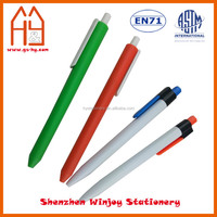 Candy color simple plastic ball pen with custom design