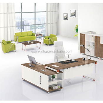 Office Furniture Standard Executive Desk Design With L Shaped Table