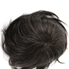 Natural Wave Black Mix White Hair Old Men Toupee Left Part With Human Hair Men's Toupee Lace And Mono Base Size 6x8 Inch