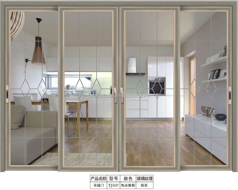 Interior pivote puertas de lujo de aluminio de aleaci n de for Puertas de metal con vidrio