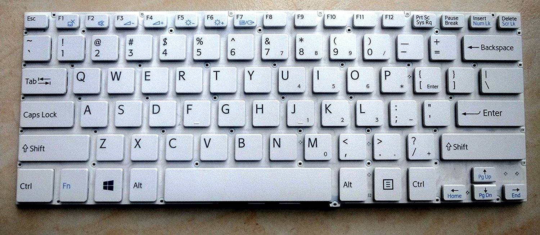 SZYJT New for Sony vaio SVF142 SVF142C29M SVF142C1DT SVF142A26T SVF142C29L palmrest with touchpad Backlit US Keyboard White 14