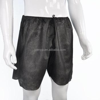 4fd66b9c537b Men's Black Disposable Boxer Shorts Paper Underwear For Spa - Buy ...