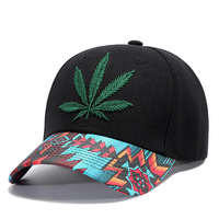 H&S Multi Color Rasta Weed Leaf Pot Flat Bill Snapback Baseball Cap Hat For Retail