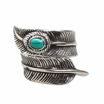 3oys 006 Men S Fashion Metal Ring Stainless Steel Jewelry Feather