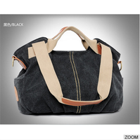 The best selling canvas tote bag leather handle hand bags