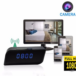 Take real time video on the phone CCTV camera Full HD 1920*1080P Clock SPY Wireless clock hidden camera