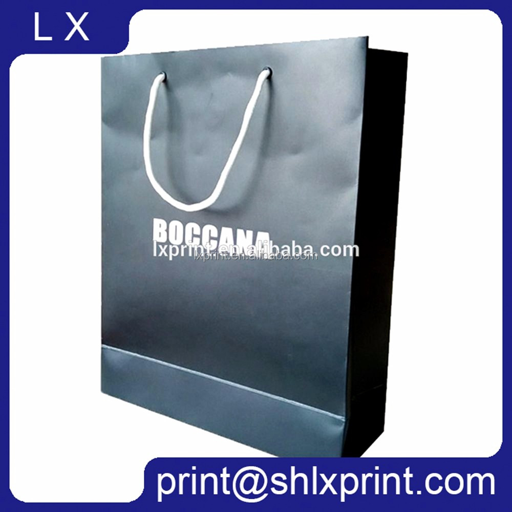 Paper Shopping Bag, Custom LOGO Printed China Gift Paper Bag Manufacturers
