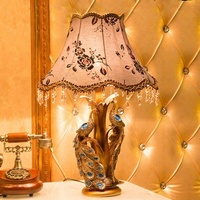 Factory direct sales cheap high quality luxurious bedside resin table lamp