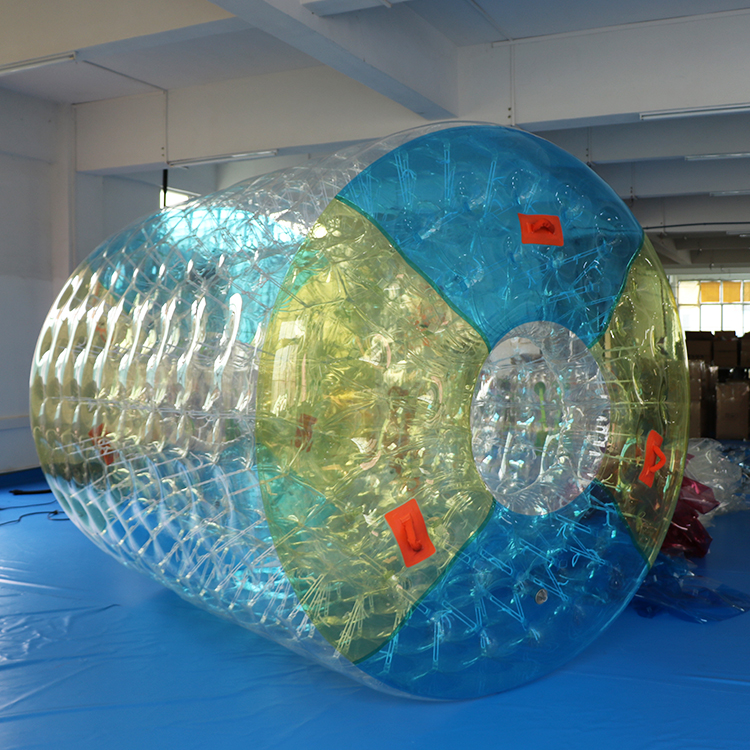 Alibaba.com / 2.7 x 2.4 x 1.8m Factory Customized Design Durable TPU Inflatable Water Walking Roller Water Roller Ball For Sale