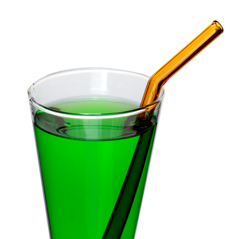 FQ brand colorful borosilicate drinking glass straw glass