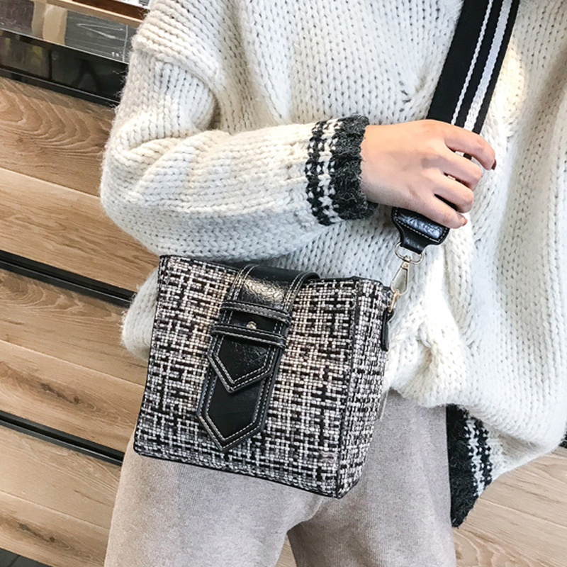 2018 Best Selling High Quality Classic Designer Handmade Custom Woolen Sling <strong>Shoulder</strong> for Women