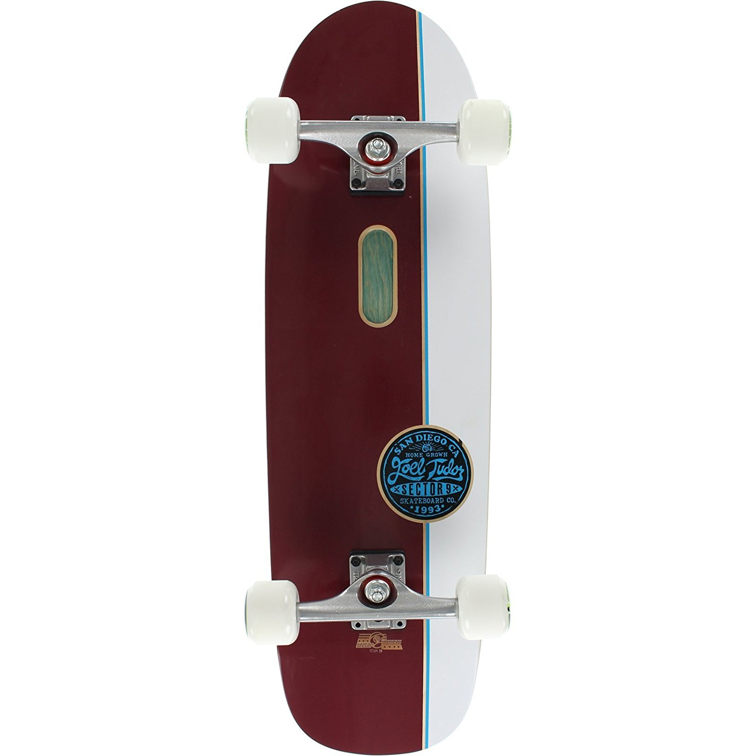 Sector 9 Tudor Pro Maroon/White Complete Skateboard -9.12x32.5