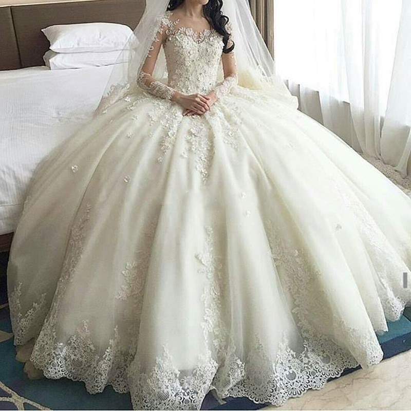 Wedding Gowns In China: 2016 Abiti Da Sposa Romantic Ball Gown China Wedding