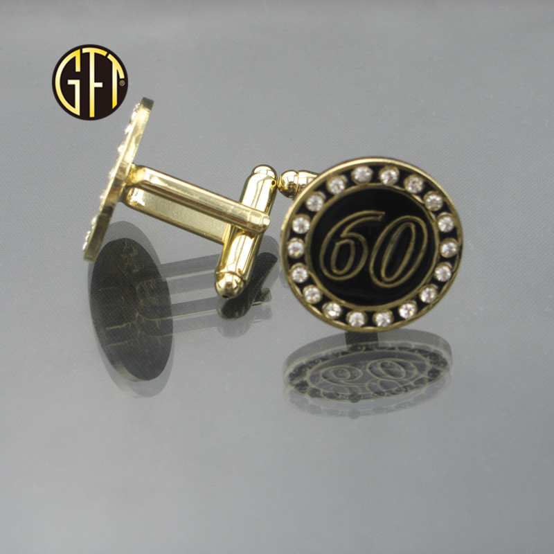 New arrival in usa New product custom S shape metal brass mens shirt cufflinks black and white Chinese manufacturer