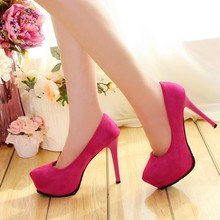 2018 Wholesale Sex Ladies Simple Thin High Heel Party Pump Shoes Woman Dress Shoes