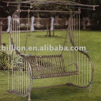 Wrought Iron Garden Swing Chairs