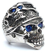 Fashion Stainless Steel Jewelry Retro Punk Skull Mummy Head Modelling Ring