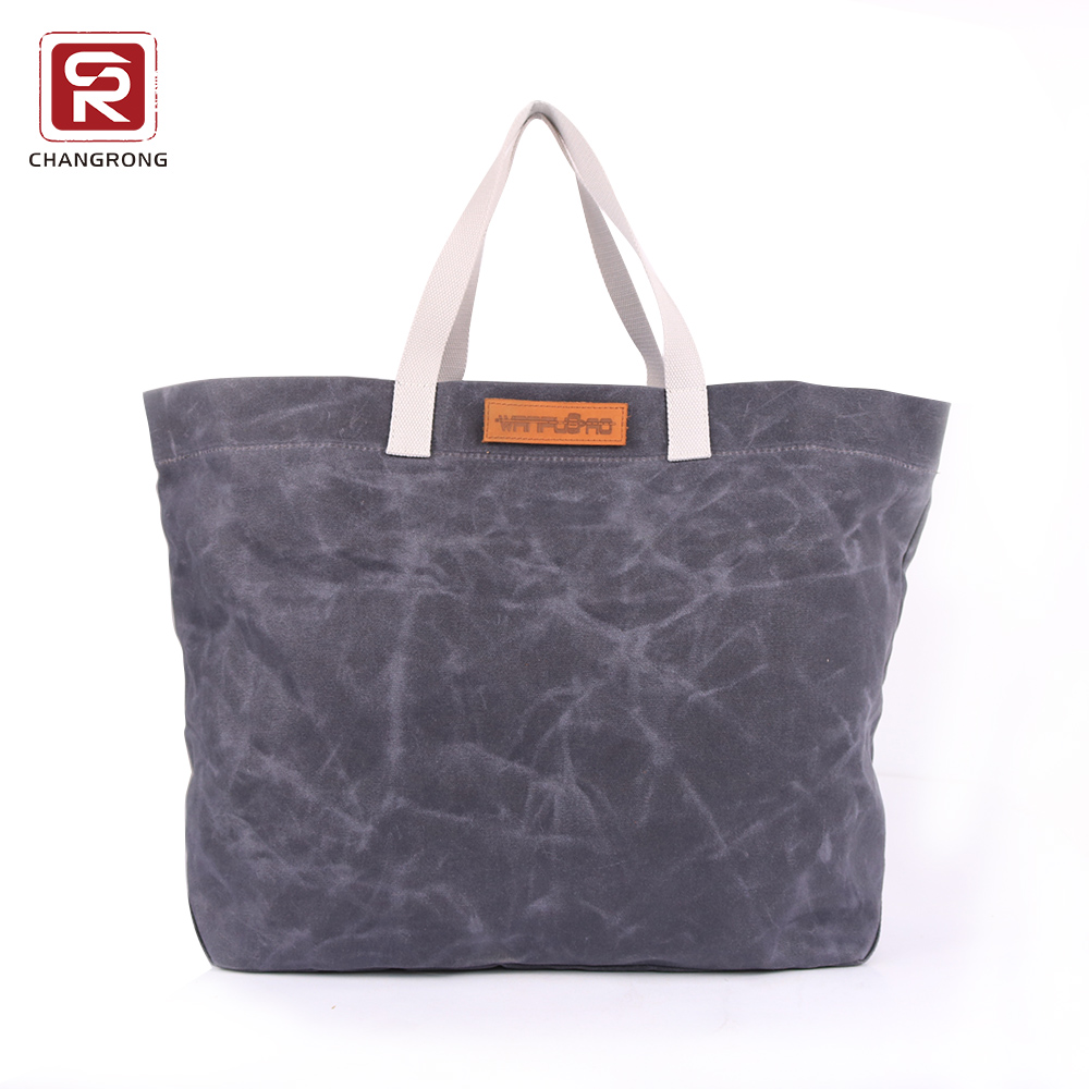 Custom Recycled Large Womens Market Waxed Canvas Tote Bag - Buy ... 943db9725f65