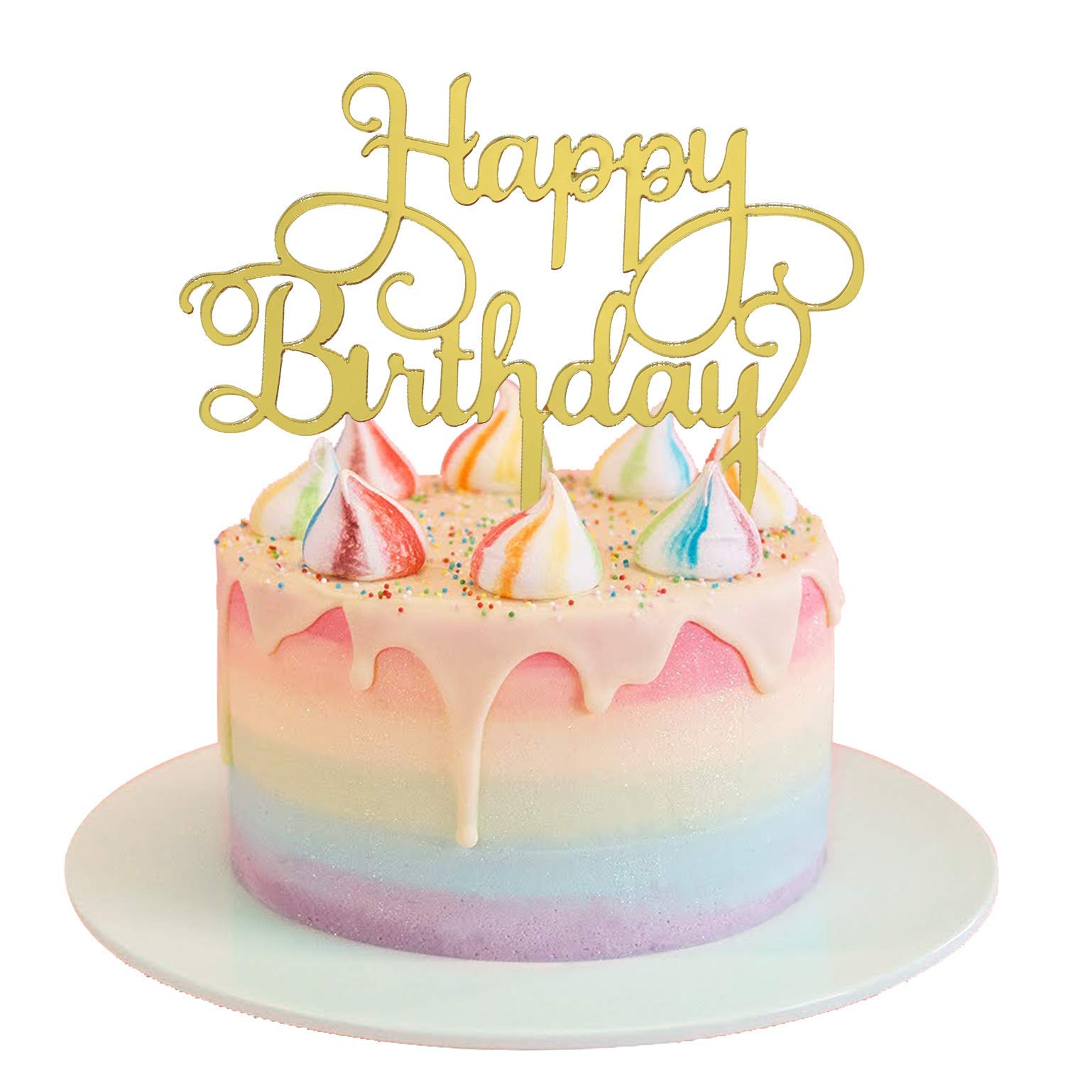 Terrific Acrylic Happy Birthday Cake Topper Acrylic Cake Topper Wholesale Personalised Birthday Cards Veneteletsinfo
